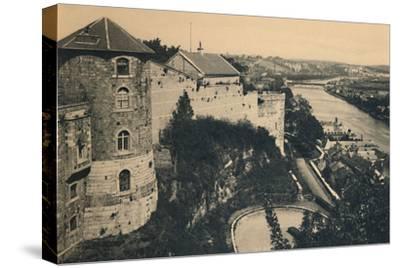 'La Tour de la Citadelle et Panorama de la Meuse', c1900-Unknown-Stretched Canvas Print