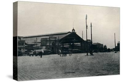 'The Railway Station, Santiago', 1911-Unknown-Stretched Canvas Print