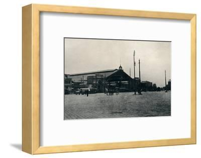 'The Railway Station, Santiago', 1911-Unknown-Framed Photographic Print