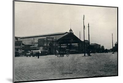 'The Railway Station, Santiago', 1911-Unknown-Mounted Photographic Print