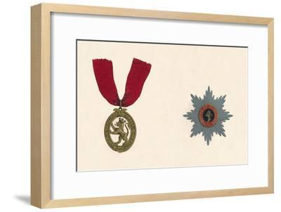 'The Order of the Lion D'Or', c19th century-Unknown-Framed Giclee Print