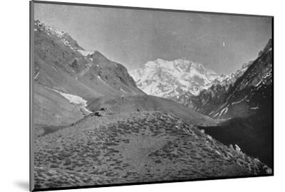 'Aconcagua, Near The Road From Santiago to Mendoza', 1911-Unknown-Mounted Photographic Print