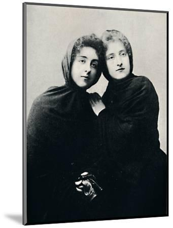 'Chilian Ladies in Church Attire (Manto)', 1911-Unknown-Mounted Photographic Print