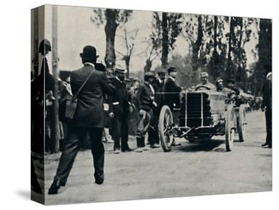 'Jarrott arrives at Bordeaux in the Race of Death', 1937-Unknown-Stretched Canvas Print