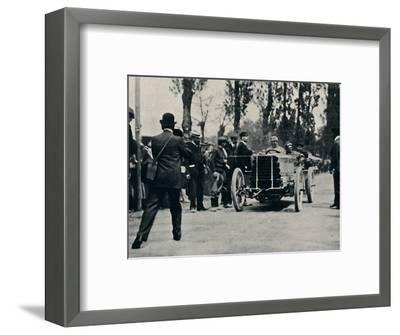 'Jarrott arrives at Bordeaux in the Race of Death', 1937-Unknown-Framed Photographic Print