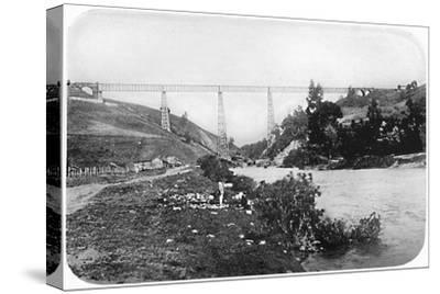'Railway Bridge Over The Malleco River, Arucania', 1911-Unknown-Stretched Canvas Print