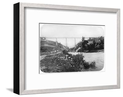 'Railway Bridge Over The Malleco River, Arucania', 1911-Unknown-Framed Photographic Print