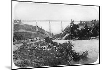 'Railway Bridge Over The Malleco River, Arucania', 1911-Unknown-Mounted Photographic Print