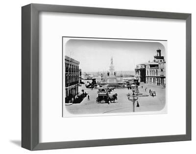 'Landing Stage at Valparaiso', 1911-Unknown-Framed Photographic Print