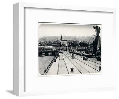 'Customs' Pier, Valparaiso', 1911-Unknown-Framed Photographic Print