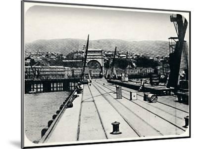 'Customs' Pier, Valparaiso', 1911-Unknown-Mounted Photographic Print