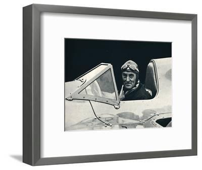 ''Sir Malcolm Campbell at the wheel of Bluebird', 1937-Unknown-Framed Photographic Print