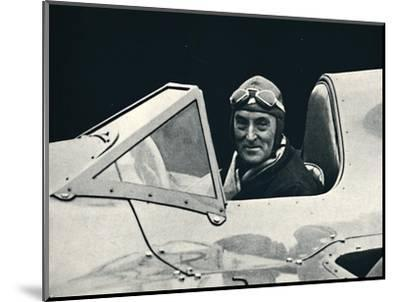 ''Sir Malcolm Campbell at the wheel of Bluebird', 1937-Unknown-Mounted Photographic Print