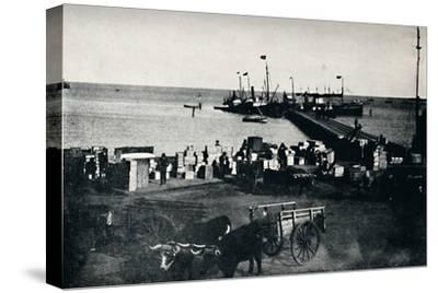 'Landing Place, Punta Arenas', 1911-Unknown-Stretched Canvas Print
