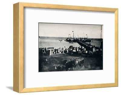 'Landing Place, Punta Arenas', 1911-Unknown-Framed Photographic Print