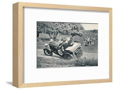 'The beginning of a spill at Donington Park', 1937-Unknown-Framed Photographic Print