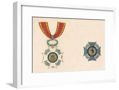 'The Order of St. Ferdinand of Spain', c19th century-Unknown-Framed Giclee Print