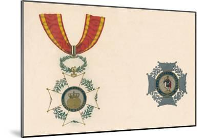 'The Order of St. Ferdinand of Spain', c19th century-Unknown-Mounted Giclee Print