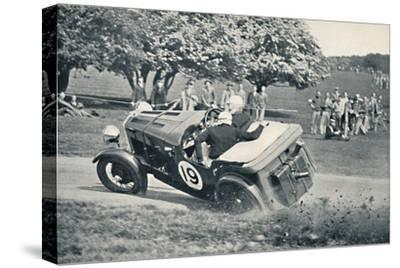 'The beginning of a spill at Donington Park', 1937-Unknown-Stretched Canvas Print