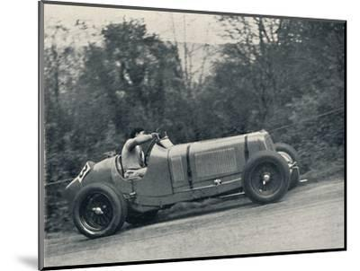 'Raymond Mays (E.R.A.) breaking the record, 1935; the Shelsey Walsh Hill Climb', 1937-Unknown-Mounted Photographic Print