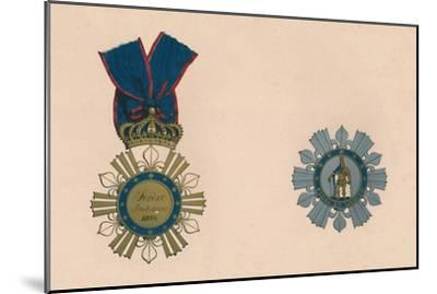'The Order of St. Ferdinand and of Merit', c19th century-Unknown-Mounted Giclee Print