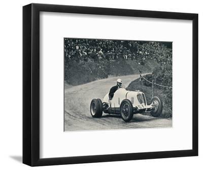 'Whitney Straight (Maserati) breaks the record, 1934', 1934, (1937)-Unknown-Framed Photographic Print