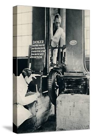 'An Impact Test in the Dunlop Test House', 1937-Unknown-Stretched Canvas Print