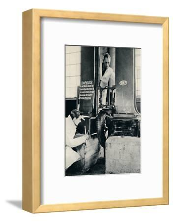 'An Impact Test in the Dunlop Test House', 1937-Unknown-Framed Photographic Print