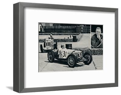 'Freddie Dixon (Riley) at Brooklands', 1937-Unknown-Framed Photographic Print