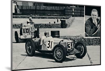 'Freddie Dixon (Riley) at Brooklands', 1937-Unknown-Mounted Photographic Print