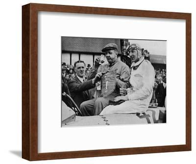 'John Cobb and T. E. Rose-Richards', c1935, (1937)-Unknown-Framed Photographic Print