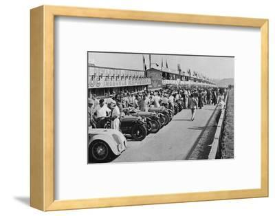 'The busy pits: before the start of Le Mans 24-hour Race', 1937-Unknown-Framed Photographic Print