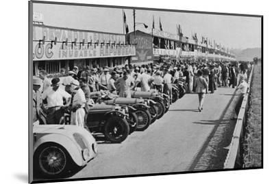 'The busy pits: before the start of Le Mans 24-hour Race', 1937-Unknown-Mounted Photographic Print