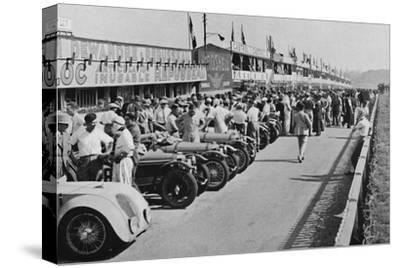'The busy pits: before the start of Le Mans 24-hour Race', 1937-Unknown-Stretched Canvas Print