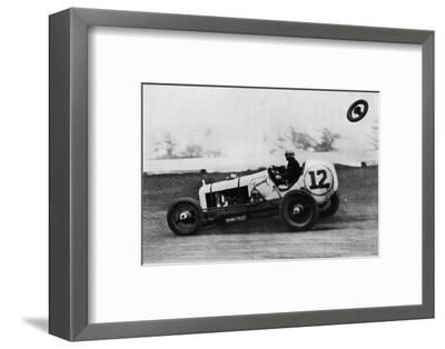 'American Speedway Racing - Jack Ericson, turning on three wheels, 1937-Unknown-Framed Photographic Print