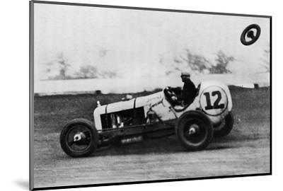 'American Speedway Racing - Jack Ericson, turning on three wheels, 1937-Unknown-Mounted Photographic Print