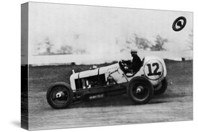 'American Speedway Racing - Jack Ericson, turning on three wheels, 1937-Unknown-Stretched Canvas Print