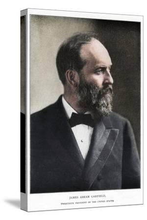 James Abram Garfield, 20th President of the United States, c1881-Unknown-Stretched Canvas Print