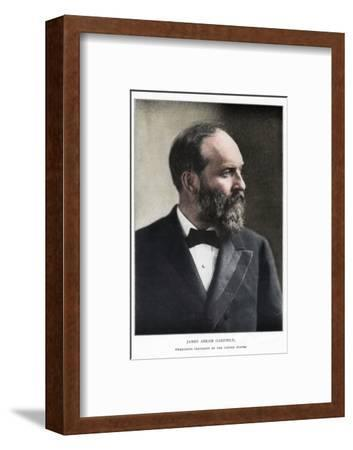 James Abram Garfield, 20th President of the United States, c1881-Unknown-Framed Photographic Print