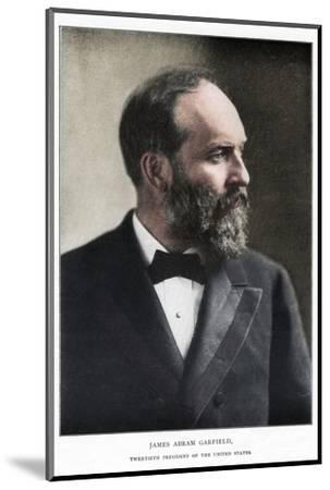 James Abram Garfield, 20th President of the United States, c1881-Unknown-Mounted Photographic Print