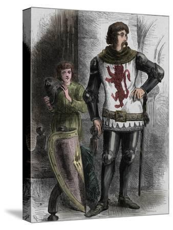 'William Wallace', c1270-1305, (c1880)-Unknown-Stretched Canvas Print