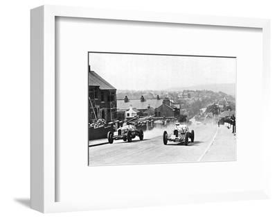 'Road racing in the Isle of Man, 1937', 1937-Unknown-Framed Photographic Print