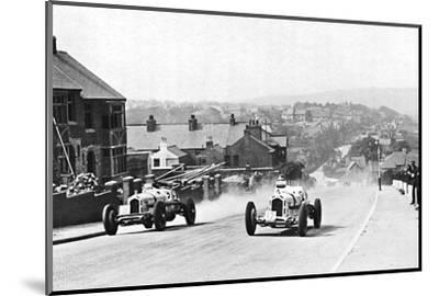 'Road racing in the Isle of Man, 1937', 1937-Unknown-Mounted Photographic Print
