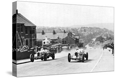 'Road racing in the Isle of Man, 1937', 1937-Unknown-Stretched Canvas Print