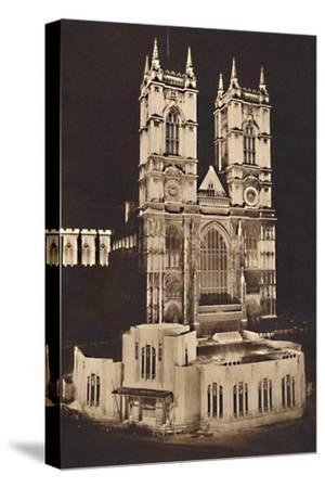 'Coronation Floodlighting - Westminster Abbey', 1937-Unknown-Stretched Canvas Print