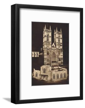 'Coronation Floodlighting - Westminster Abbey', 1937-Unknown-Framed Photographic Print