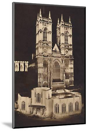 'Coronation Floodlighting - Westminster Abbey', 1937-Unknown-Mounted Photographic Print
