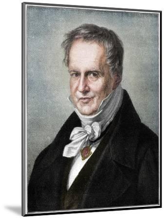 Alexander von Humboldt, Prussian naturalist and explorer, (1900)-Unknown-Mounted Giclee Print