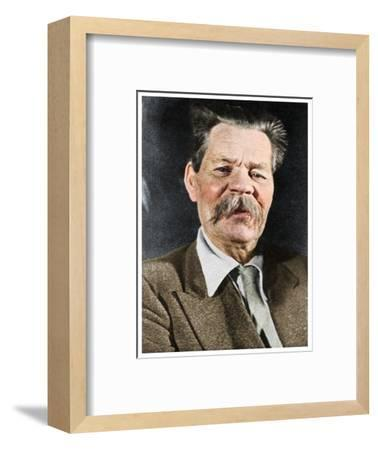 Maxim Gorky, Russian author, c1930 (1956)-Unknown-Framed Photographic Print