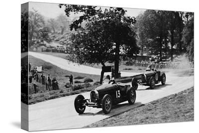 'Thrilling racing in rural England: Bugattis at Donington', 1937-Unknown-Stretched Canvas Print
